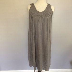 garnet hill Dresses & Skirts - Garner Hill Gray Cotton Sleeveless Dress Small