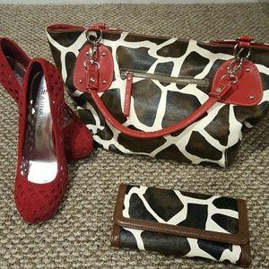 Charming Charlie Handbags - Fashion forward purse & wallet set
