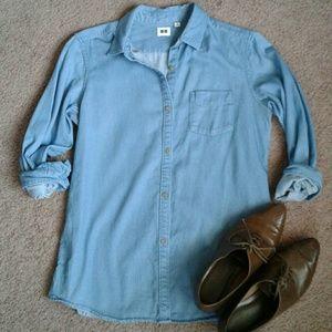 Uniqlo Button Down Chambray Shirt