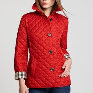 Burberry Jackets & Blazers - Burberry Brit Jacket in Military Red