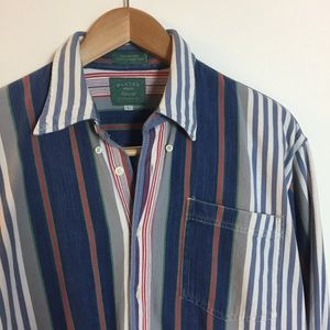 🌟HP🌟 Men's Vintage Striped Denim Shirt