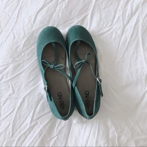 Nordstrom Shoes - Mary Jane bow ballet flats in teal