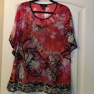 73 off style amp co tops style amp co ruffle trim blouse top 16 from