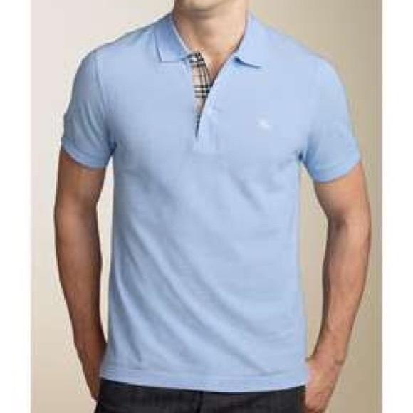 efaf7e2c3e32 Burberry Shirts | Mens Light Blue Polo Shirt | Poshmark