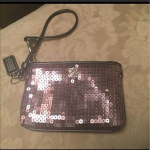 Coach Handbags - Like NEW! Coach sequin wristlet/wallet