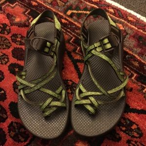 Chacos Shoes - Green Strappy Chacos. Like new.