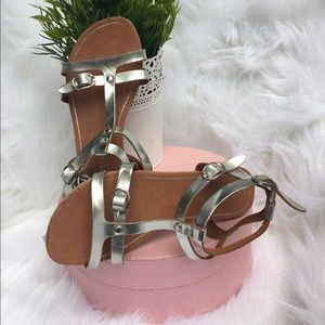 Link Other - Link girls silver double strap sandals size 1