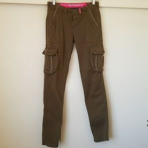 Superdry Pants - Superdry olive green pants