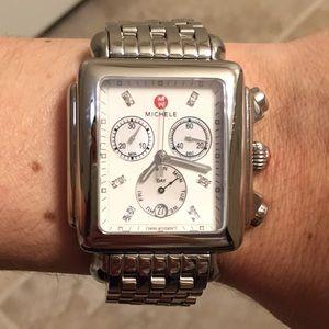 Michele Accessories - XL Michele diamond deco watch