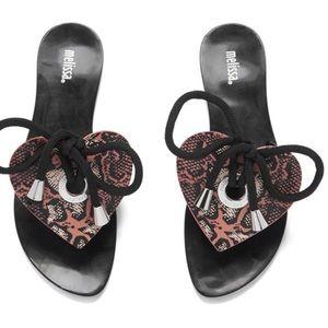 Melissa Shoes - 👠NWT👠SALE Melissa Bliss Heart Black Snake Sandal
