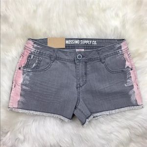 Mossimo Supply Co. Pants - Mossimo Hip Shorts Gray Pink Frayed NWT Jr Size 9