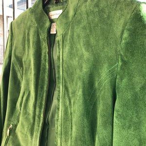 Preston & York Jackets & Blazers - Preston & York STUNNING Green Leather Jacket