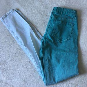 Cello Jeans Pants - Ombré aqua skinny jeans