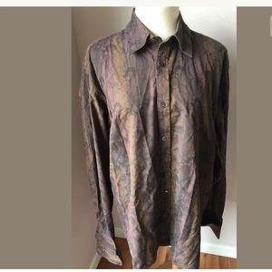 4/$25 Ted Baker Mens Brown Bronze Floral Shirt5