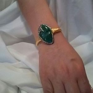 Alexis Bittar Crystal Encrusted Turquoise Cuff