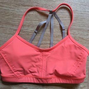 lululemon athletica Tops - Lululemon Breathe Easy bra coral and gray size 6