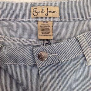Earl Jeans Pants - Earl Jeans Striped Denim Capris