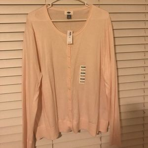Old Navy Sweaters - NWT Old Navy XXL light pink cardigan