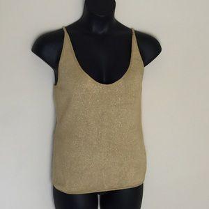 Giorgio Armani Tops - Giorgio Armani Gold Sweater Tank Top Size 12