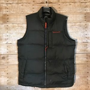 Timberland Other - Timberland Vest Puffy Olive Green/orange accents