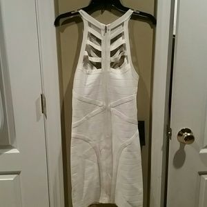 Bebe off white short cocktail dress.  Black also