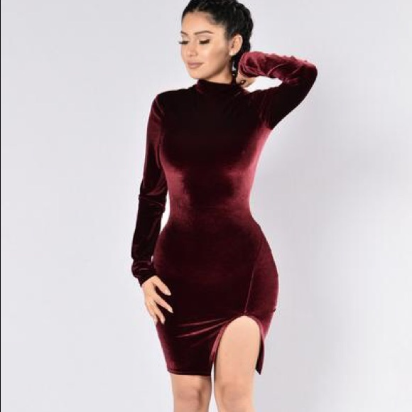 6278a87d703 Fashion Nova Dresses   Skirts - Long sleeve Velvet Dress