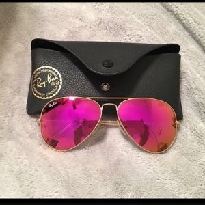 Ray-Ban aviator 112/4t cyclamen pink flash lens