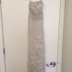Nicole  Miller champagne colored long gown