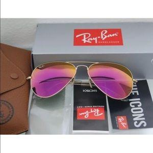 Ray-Ban Accessories - Ray-Ban aviator 112/4t cyclamen pink flash lens
