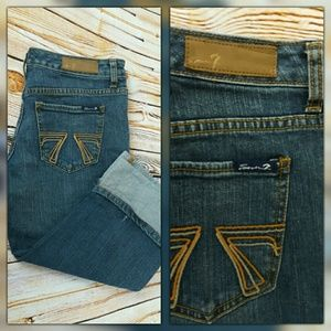 FREE SHIPPING! 7 For All Mankind Crop Jeans Capris