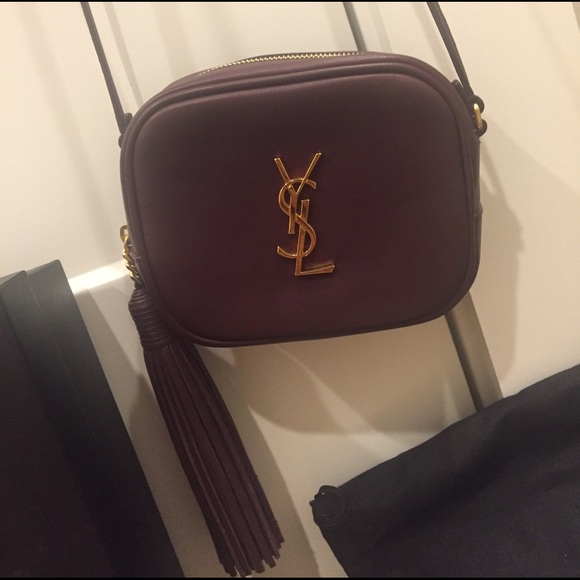 cc2614128c72 Saint Laurent Monogram Blogger Crossbody Bordeaux.  M 58d9bda456b2d69f77027be8