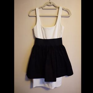 Necessary Objects Dresses & Skirts - FINAL SALE Black and White Babydoll Dress