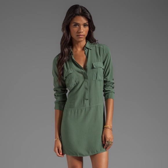 b4c4a87ba1027 Splendid Shirt Dress in Camo Green. M_58d9be69680278a1a6027798