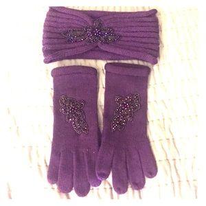 Accessories - Purple headband and gloves