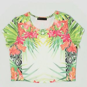Fashion to Figure Tops - FTF FLORAL CROP TOP