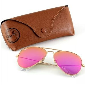 Ray-Ban Accessories - Authentic Ray-Ban aviator pink lens sunglasses