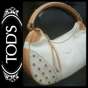 Tod's Handbags - Tod's Italy Canvas Leather Purse