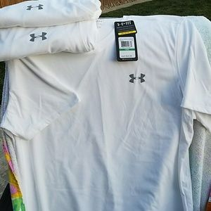 Under Armour Other - Set of 3 loose fit UA compression tee. v neck