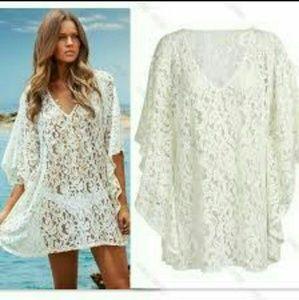 Other - Sexy Fashion Beach Boho Dresses Women White Lace C