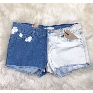 Levi's Pants - Levis Bleached Two Tone Denim Shorts Blue WhiteNWT