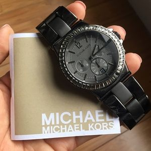 Michael Kors Oversized Gunmetal Watch