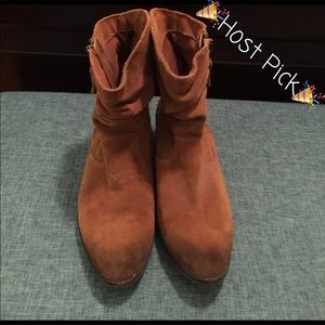 Reba Shoes - Reba Camel Suede Ankle Boots