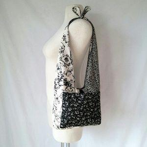 BLACK & White Hobo Bag