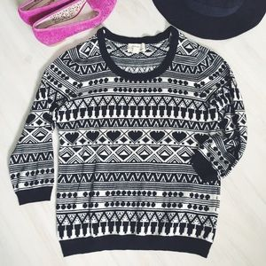 Forever 21 Patterned Crew Sweater