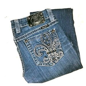 Miss Me Denim - Bootcut Miss Me Jeans with Fleur De Lis pockets