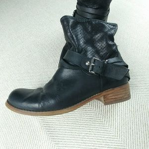 Marc Fisher Shoes - Marc Fisher buckled & strapped leather ankle boot