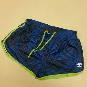 Umbro Pants - Large Umbro running shorts lined blue