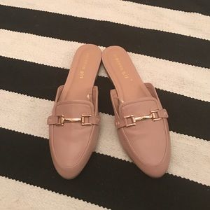Madden Girl Shoes - Madden girl mule slip on loafers blush, size 9