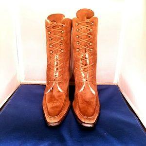 Ralph Lauren Purple Label Shoes - RALPH LAUREN - PURPLE LABEL - suede lace up boots