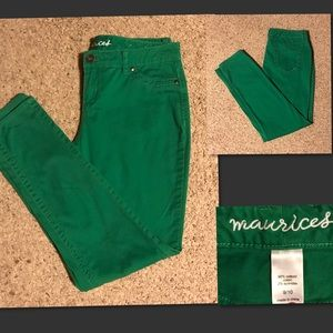 Maurices Denim - Maurice's Green Jeans size 9/10
